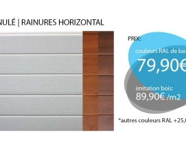 PORTES SECTIONNELLES | RAINURES HORIZONTAL